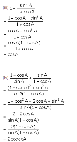 Selina Concise Mathematics Class 10 ICSE Solutions Trigonometrical Identities image - 153