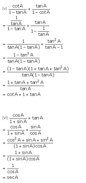 Selina Concise Mathematics Class 10 ICSE Solutions Trigonometrical Identities image - 154