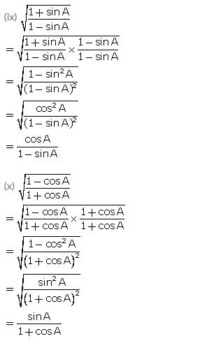 Selina Concise Mathematics Class 10 ICSE Solutions Trigonometrical Identities image - 156