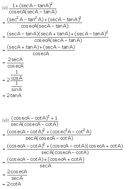 Selina Concise Mathematics Class 10 ICSE Solutions Trigonometrical Identities image - 157