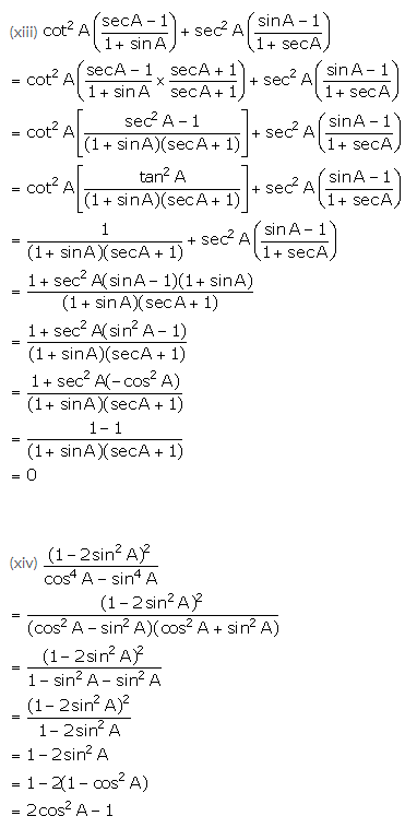 Selina Concise Mathematics Class 10 ICSE Solutions Trigonometrical Identities image - 158