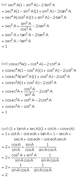 Selina Concise Mathematics Class 10 ICSE Solutions Trigonometrical Identities image - 159
