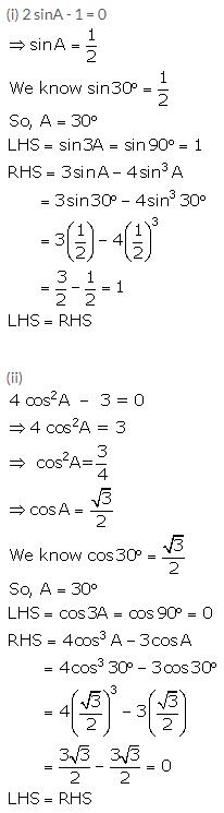 Selina Concise Mathematics Class 10 ICSE Solutions Trigonometrical Identities image - 169