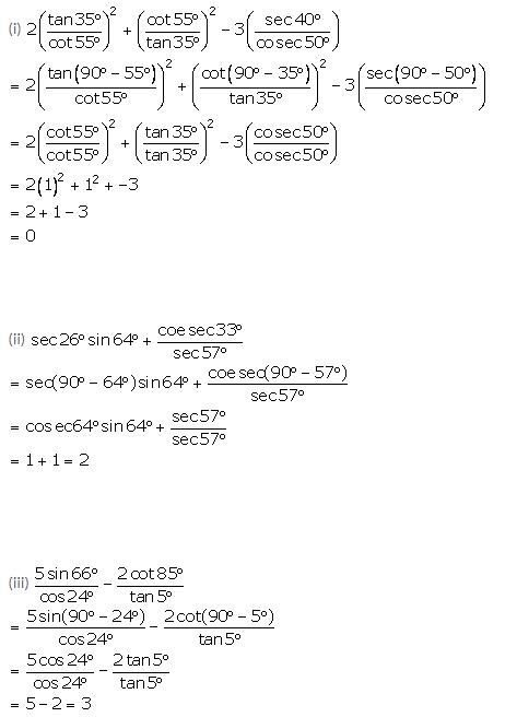 Selina Concise Mathematics Class 10 ICSE Solutions Trigonometrical Identities image - 171