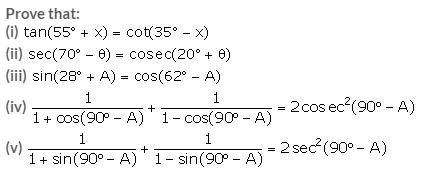 Selina Concise Mathematics Class 10 ICSE Solutions Trigonometrical Identities image - 173