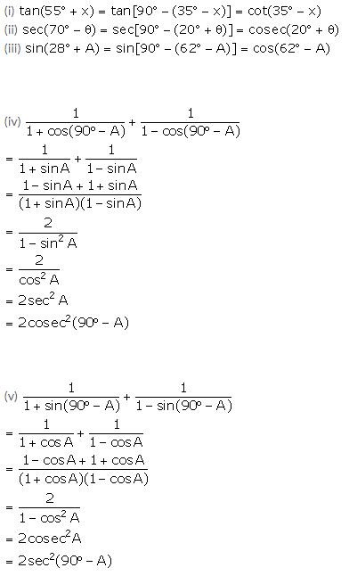 Selina Concise Mathematics Class 10 ICSE Solutions Trigonometrical Identities image - 174