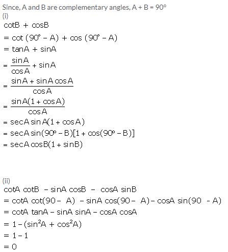 Selina Concise Mathematics Class 10 ICSE Solutions Trigonometrical Identities image - 176