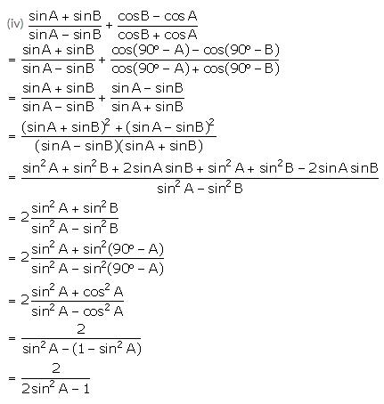 Selina Concise Mathematics Class 10 ICSE Solutions Trigonometrical Identities image - 178