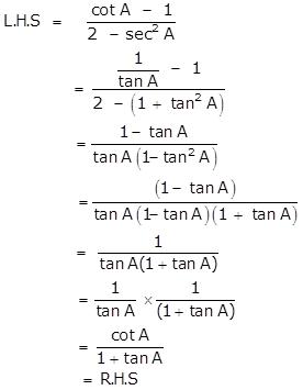 Selina Concise Mathematics Class 10 ICSE Solutions Trigonometrical Identities image - 180