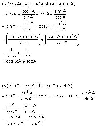 Selina Concise Mathematics Class 10 ICSE Solutions Trigonometrical Identities image - 183
