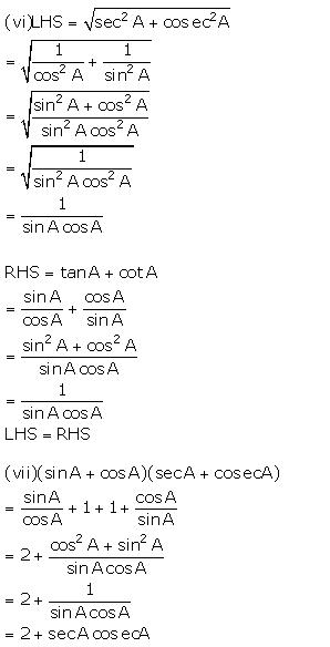 Selina Concise Mathematics Class 10 ICSE Solutions Trigonometrical Identities image - 184