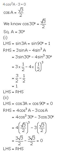 Selina Concise Mathematics Class 10 ICSE Solutions Trigonometrical Identities image - 187