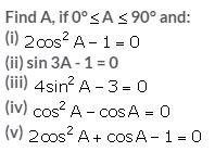 Selina Concise Mathematics Class 10 ICSE Solutions Trigonometrical Identities image - 188