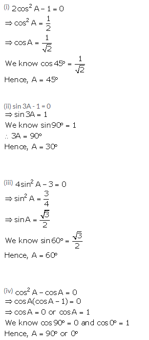 Selina Concise Mathematics Class 10 ICSE Solutions Trigonometrical Identities
