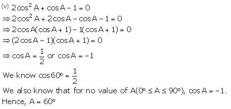 Selina Concise Mathematics Class 10 ICSE Solutions Trigonometrical Identities image - 190