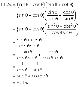 Selina Concise Mathematics Class 10 ICSE Solutions Trigonometrical Identities image - 197