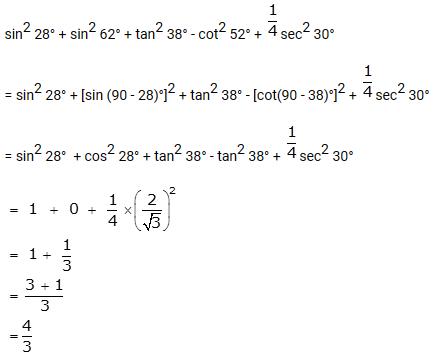 Selina Concise Mathematics Class 10 ICSE Solutions Trigonometrical Identities image - 198