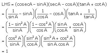 Selina Concise Mathematics Class 10 ICSE Solutions Trigonometrical Identities image - 34