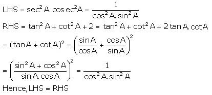 Selina Concise Mathematics Class 10 ICSE Solutions Trigonometrical Identities image - 44