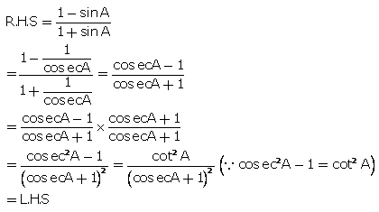Selina Concise Mathematics Class 10 ICSE Solutions Trigonometrical Identities image - 56