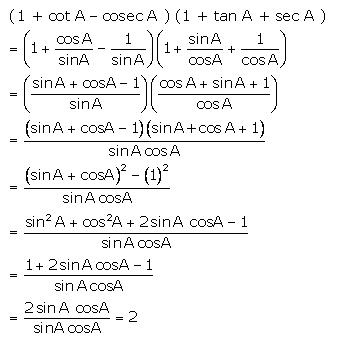 Selina Concise Mathematics Class 10 ICSE Solutions Trigonometrical Identities image - 76