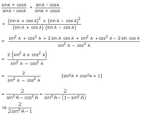 Selina Concise Mathematics Class 10 ICSE Solutions Trigonometrical Identities image - 90