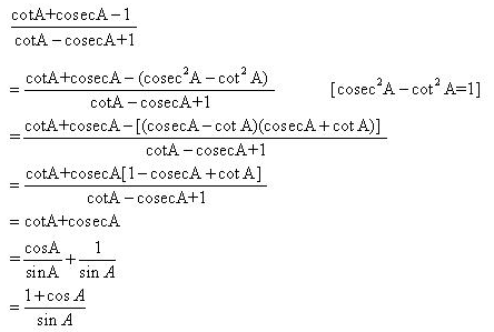 Selina Concise Mathematics Class 10 ICSE Solutions Trigonometrical Identities image - 92