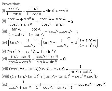 Selina Concise Mathematics Class 10 ICSE Solutions Trigonometrical Identities image - 97