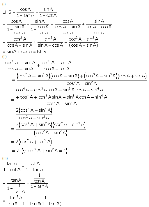Selina Concise Mathematics Class 10 ICSE Solutions Trigonometrical Identities image - 98