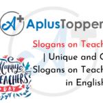 Slogans on Teachers' Day