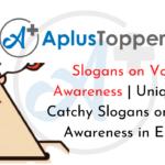 Slogans on Voting Awareness
