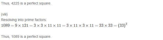 Squares and Square Roots RS Aggarwal Class 8 Maths Solutions Exercise 3A 1.3