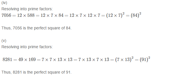 Squares and Square Roots RS Aggarwal Class 8 Maths Solutions Exercise 3A 2.2