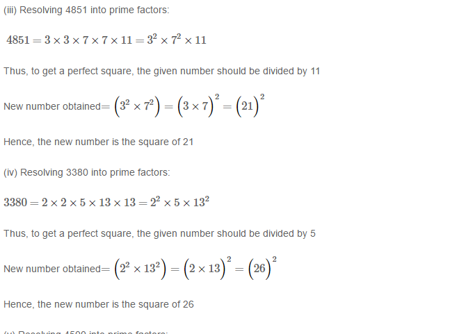 Squares and Square Roots RS Aggarwal Class 8 Maths Solutions Exercise 3A 4.2