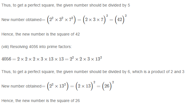 Squares and Square Roots RS Aggarwal Class 8 Maths Solutions Exercise 3A 4.4