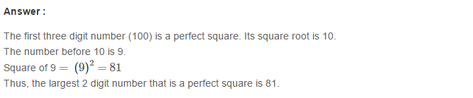 Squares and Square Roots RS Aggarwal Class 8 Maths Solutions Exercise 3A 5.1