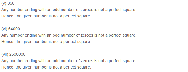 Squares and Square Roots RS Aggarwal Class 8 Maths Solutions Exercise 3B 1.2