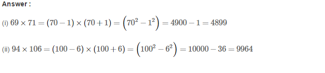 Squares and Square Roots RS Aggarwal Class 8 Maths Solutions Exercise 3B 10.1