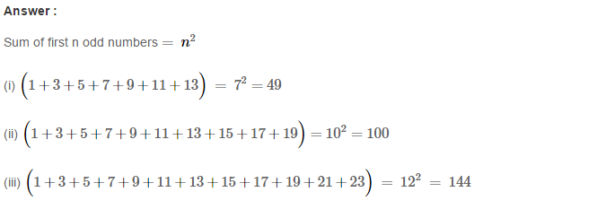 Squares and Square Roots RS Aggarwal Class 8 Maths Solutions Exercise 3B 4.1