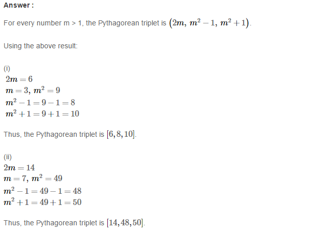 Squares and Square Roots RS Aggarwal Class 8 Maths Solutions Exercise 3B 6.1