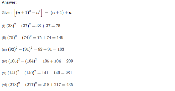 Squares and Square Roots RS Aggarwal Class 8 Maths Solutions Exercise 3B 7.1