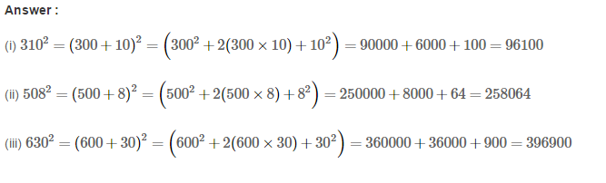 Squares and Square Roots RS Aggarwal Class 8 Maths Solutions Exercise 3B 8.1