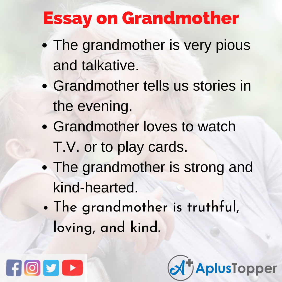descriptive essay on grandmother