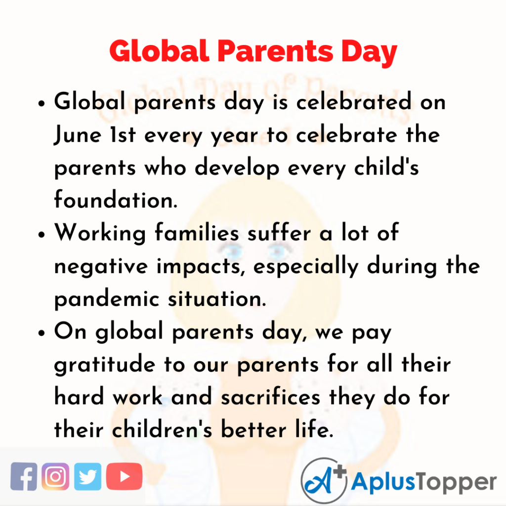 10 Lines about Global Parents Day