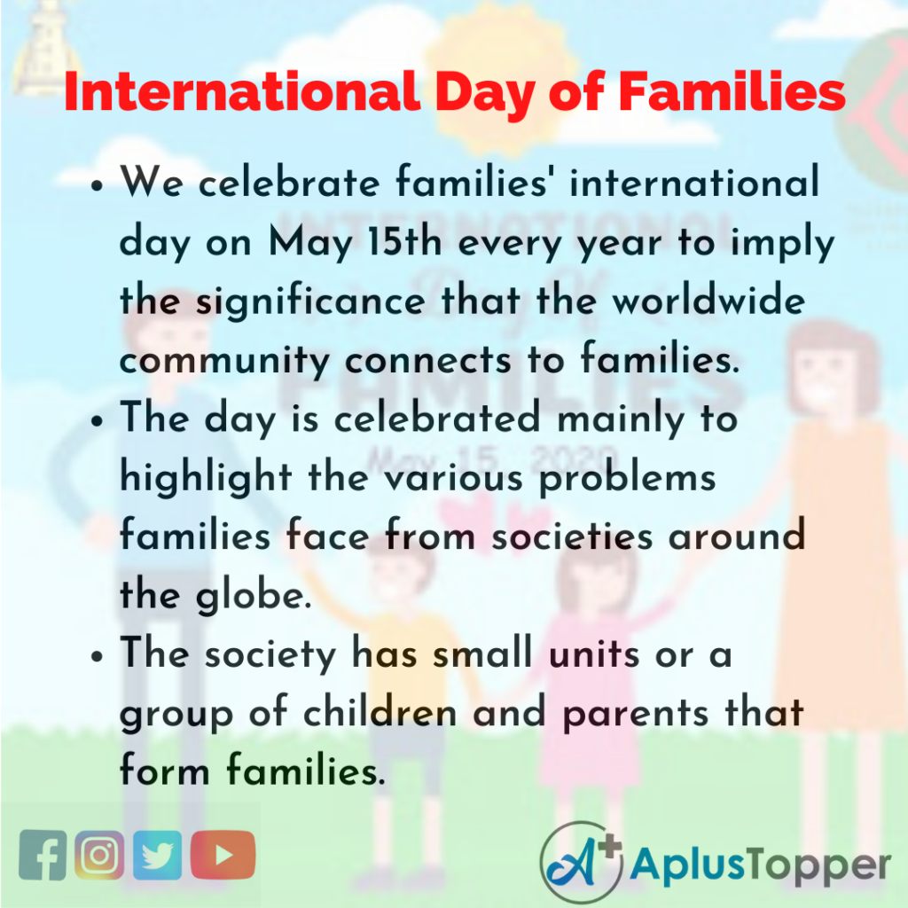 10 Lines about International Day of Families
