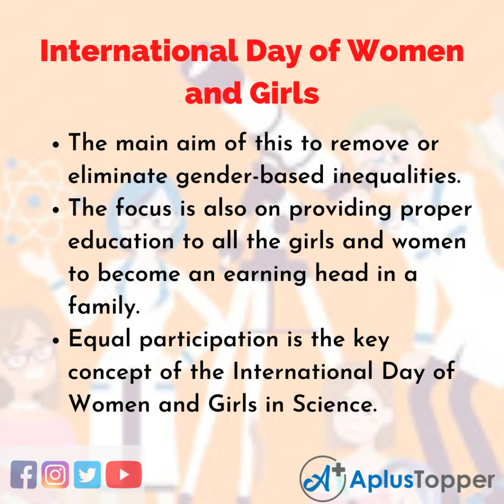 10 Lines about International Day of Women and Girls