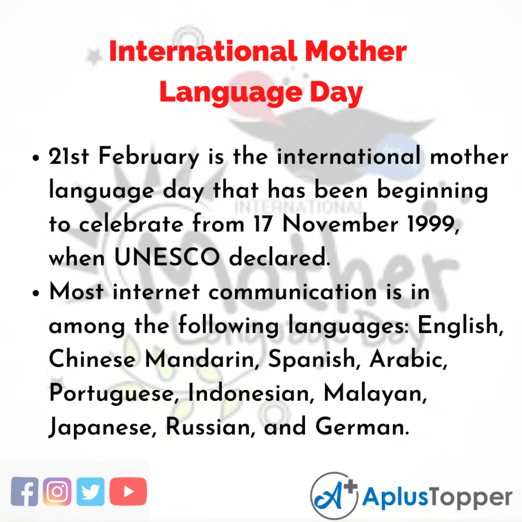 10 Lines about International Mother Language Day