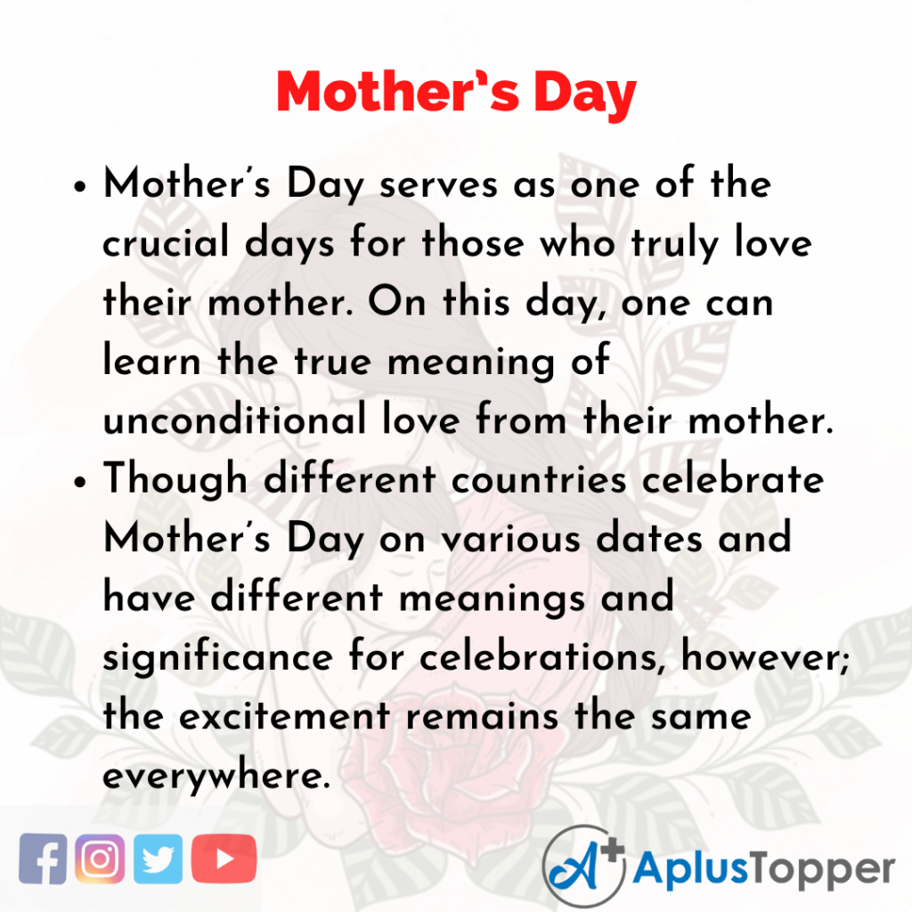 10 Lines about Mother's Day