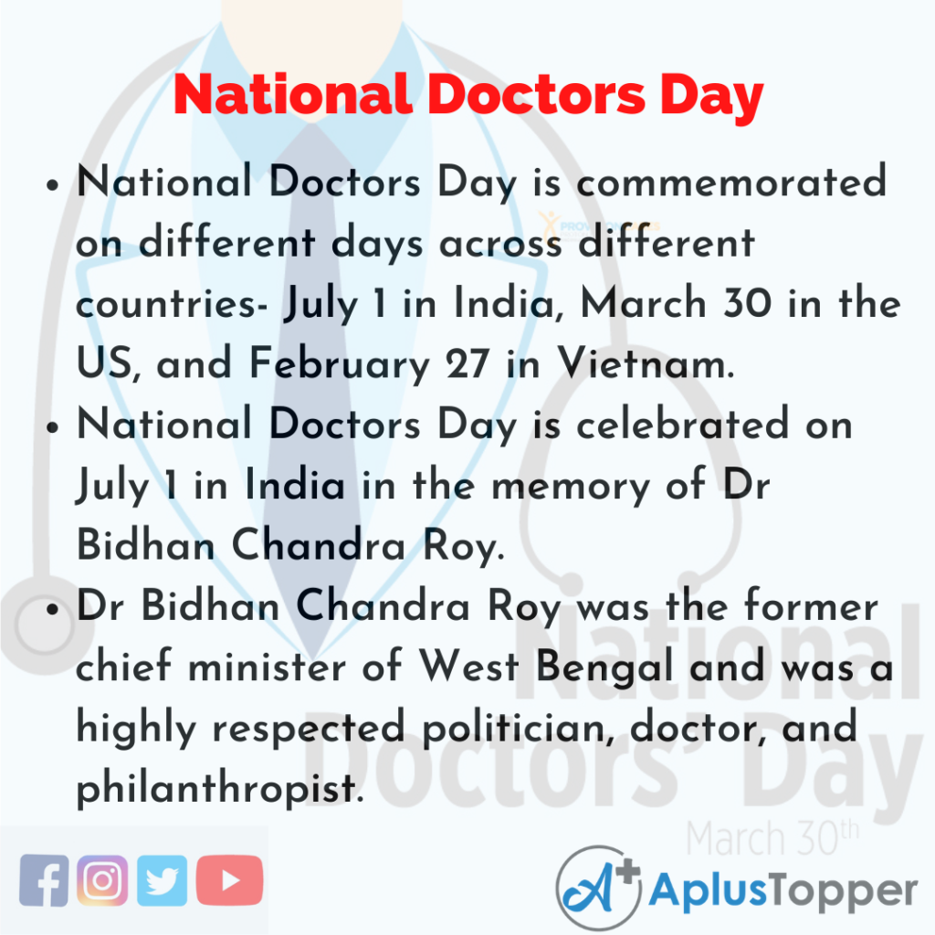 10 Lines about National Doctors Day