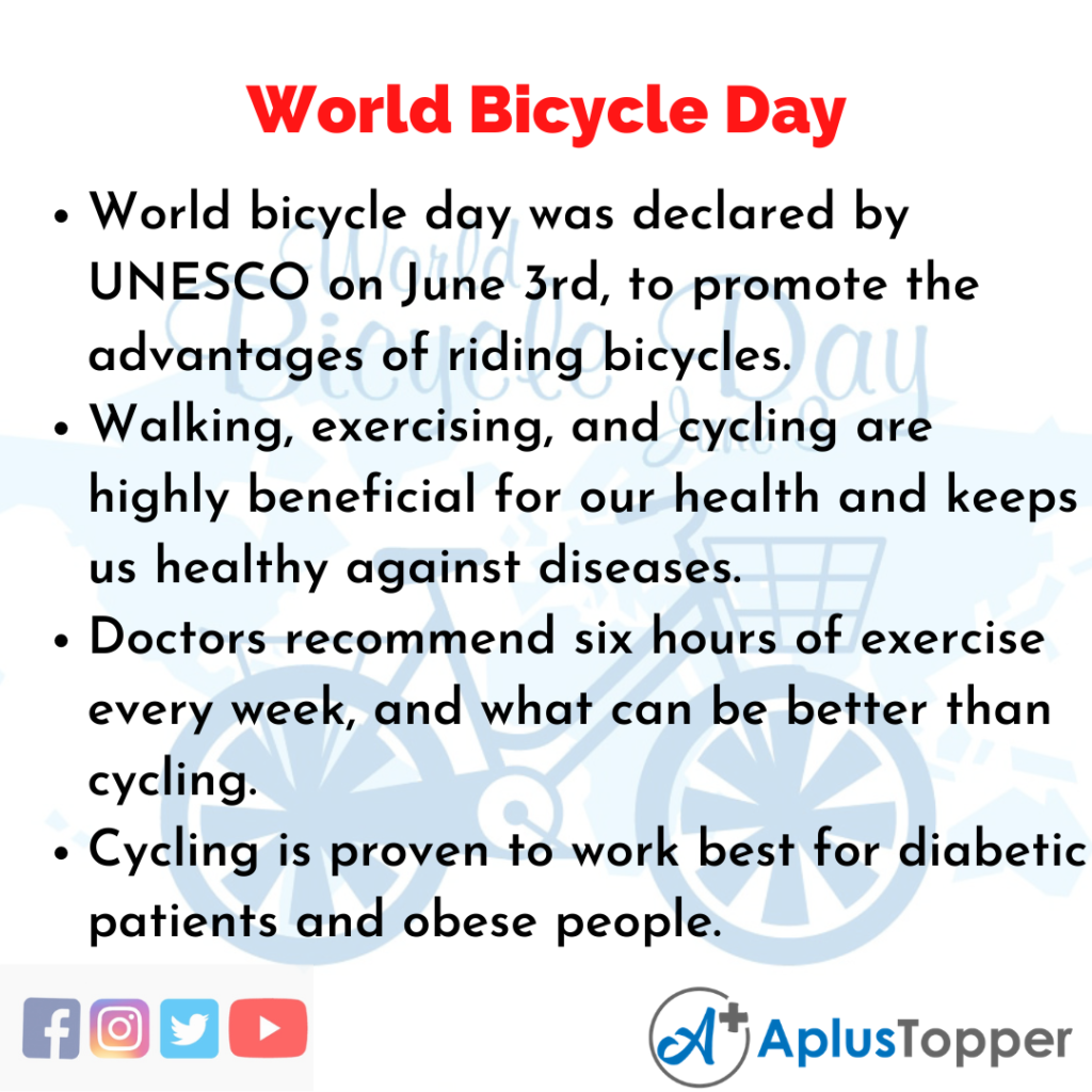 10 Lines about World Bicycle Day